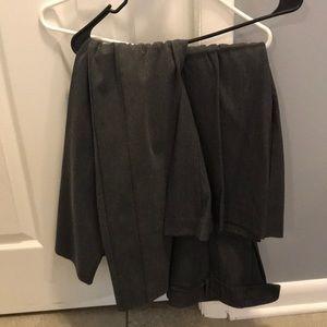 Stretchy gray dress pants